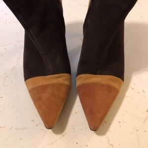 ANTONIO MELANI SUEDE MULTI COLOR BOOTIES SZ 9